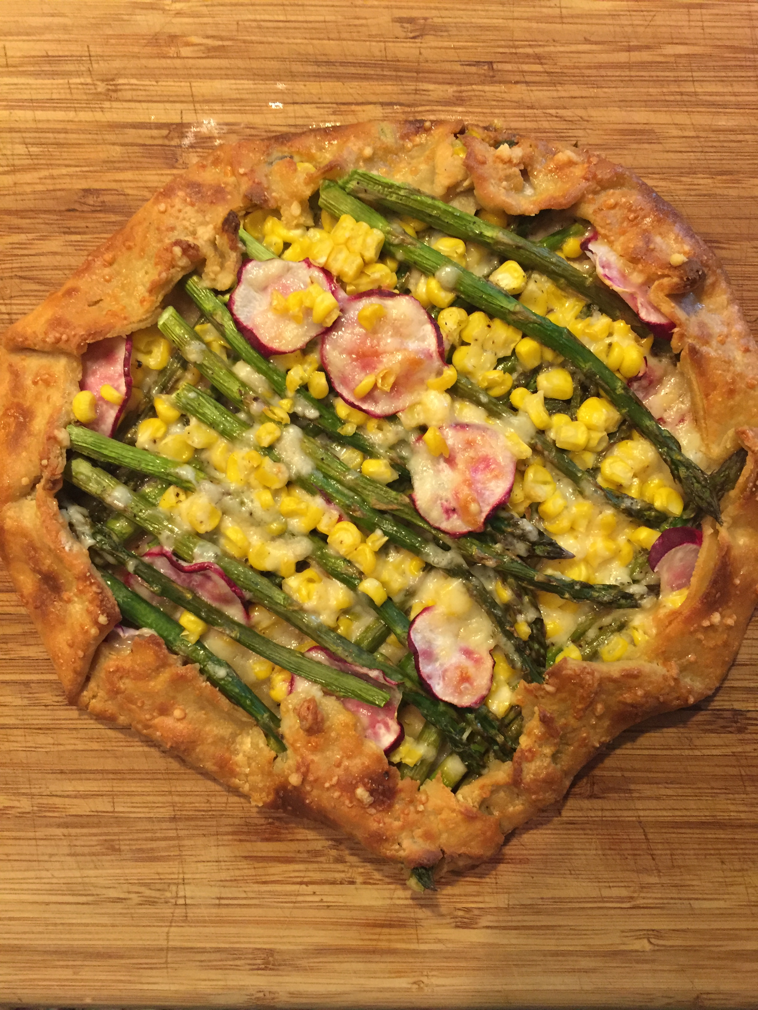 photo Asparagus, Potato, and Spinach Galette